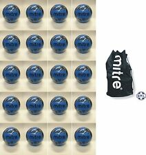 20 x MITRE MISSION TRAINING FOOTBALLS + JUMBO BALL SACK - SIZE 5 - CYAN BLUE