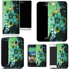 motif case cover for various Popular Mobile phones - green corsage