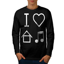 I Love House Music Men Long Sleeve T-shirt S-2XL NEW | Wellcoda