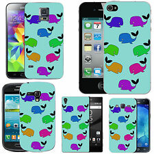 case cover for many mobiles - azure pastel funky wales