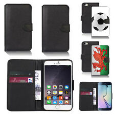 black pu leather wallet case cover for many mobiles design ref q795
