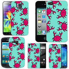 motif case cover for many Mobile phones - azure multi crab