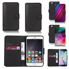 pu leather wallet case cover for many mobiles design ref q278