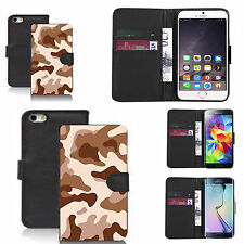 pu leather wallet case for many Mobile phones - desert cammy