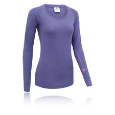 Higher State Womens Purple Long Sleeve Crew Neck Training Sports Top