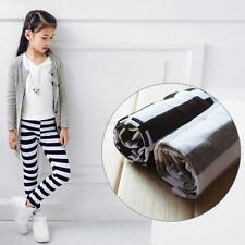 2-7Y Toddler Baby Girls Cotton Striped Pants Fashion Autumn Leggings Trousers