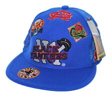 NEW NY Black Yankees Negro League Fitted Hat Embroidered Mesh Back Cap - Royal