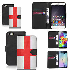 pu leather wallet case for many Mobile phones - england flag