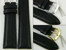 HQ XL 18 20 MM BLACK ITALY GENUINE LAMBSKIN WATCH BAND LENGTHENED STRAP 12~28 mm