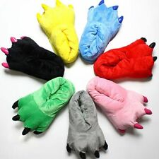 Winter Home Warm Paw Plush Slippers Thermal Cotton Soft Claw Slippers