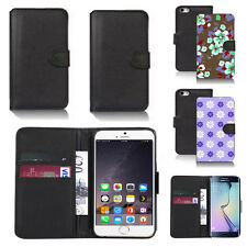 pu leather wallet case cover for apple iphone models design ref q109