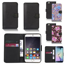 pu leather wallet case cover for many mobiles design ref q192