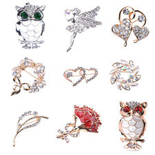 NEW Fashion Jewelry Pearl Cute Exquisite Rhinestone Crystal Charm Brooches Pins
