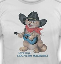 Country Cat Shirt, Love Country Music ~ Meowsic, Funny, Kitty, Woman, Small - 5X