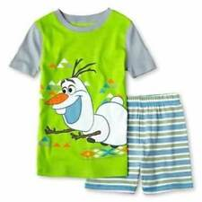 NEW! DISNEY FROZEN BOYS OLAF 2 ☃ Piece Pajamas Shorts Set Size 2,3,4,5,6,7,8,10