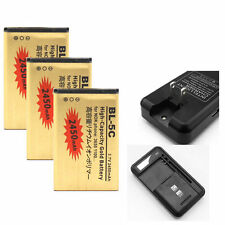 Gold Li-ion Polymer Battery + Dock Charger For Nokia BL-5C 6630 6680 6550 6230i