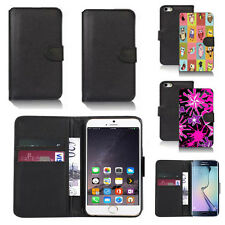 black pu leather wallet case cover for many mobiles design ref q363