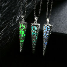 Frozen Icicle Glow in The Dark Pendant Necklace Chains Women's Jewelry Gift! NEW
