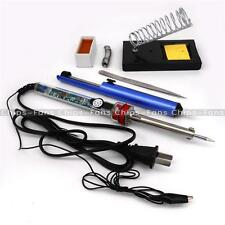 Electric 907 Soldering Iron Starter Tool Kit Set With Iron Stand Solder 5/7 Hole