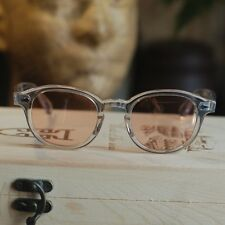 Vintage sunglasses Johnny Depp men sunglasses crystal frame light pink lenses
