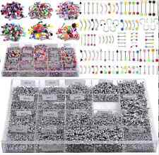 105pcs Wholesale Bulk lots Body Piercing Eyebrow Jewelry Belly Tongue Bar Ring