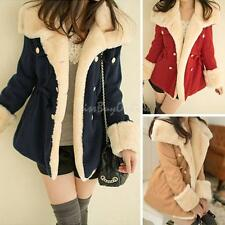 Korean Winter Double-breasted Wool Jacket New Fashion Slim Warm Womens Coat