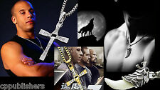 Men's Ladies Stainless Steel Cross Pendant Necklace Chain Wolf Tooth Free Shipp