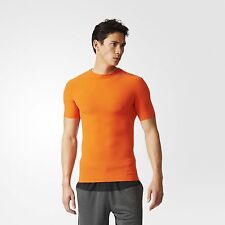 Adidas Techfit Primeknit Tee (S91686) Orange Climacool T-Shirts