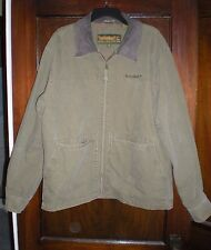 Mens Timberland Weathergear Size M Green jacket with leather collar