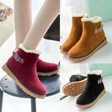 Womens Knee-high Comfort Sexy Winter Snow Boots Stretch Suede Warm Ankle Boots