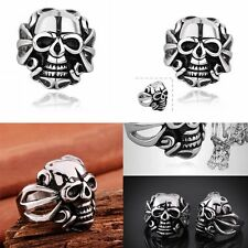Stainless Steel Hot Fashion Men's Punk Rock Skull Biker Ring Mysterious Jewelry