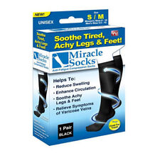 Miracle Sock Casual Anti Fatigue Compression Socks As Seen On TV (with BOX)