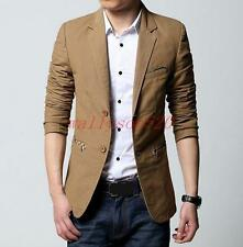 Stylish Mens Casual Two-Button Blazer Slim Fit Tops Lapel Suits Coat Jacket New