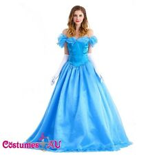 Ladies Disney Cinderella Princess Lace Up Fancy Dress Costume