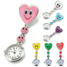 Women's Faces Heart Clip-On Pendant Nurse Fob Brooch Pocket Watch Affordable