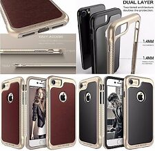 LUXURY LEATHER Case For Apple iPhone 7 Back SLIM Cover Skin Premium Bumper Brown