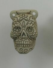 Ceramic Pottery Bottle/Necklace, Day of Dead Skull Man, Choice Lot Size-Price