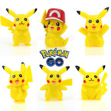 Cute 6pcs/Set Pokemon Pikachu Monster Action Figures Kids Children Baby Doll Toy