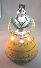 Vintage FRAILE P.A.R. TRIANA ART POTTERY SPANISH LADY /WOMAN DANCER BELL 6""