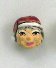 Mrs. Claus Ceramic Beads, 13mm, Choice of Lot Size & Price, Hand Painted