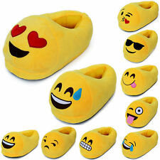 3D Emoji Plush Stuffed Unisex Cotton Slippers Cartoon Winter Home Indoor Shoes