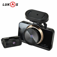 "Lukas LK-9750 DUO GPS 3.97"" Dual Full HD LCD Touch Car Dash Camera Blackbox"