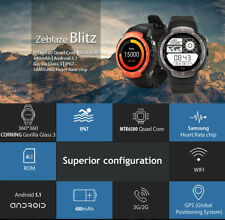 Zeblaze Blitz 3G Android 5.1 MTK6580 Phone Watch Camera WCDMA GSM Email GPS WIFI