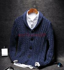 Stylish Mens Long Sleeve Slim Fit V-neck Knit Pullover Cardigan Sweater Coat Top