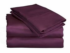 SCENT STATION CHARMEUSE SATIN II 230 THREAD COUNT SHEET SET PURPLE
