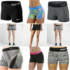 """Nike Pro Cool Core 3"""" Womens Compression Shorts Spandex 725443 725612 589364 NEW"""