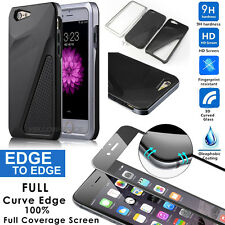 [3D Real Glass] High Impact Defender Combo 3-IN-1Hard Soft Case for iPhone 6 6s