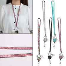 NEW Neck Rhinestone Lanyard Retractable Strap ID Badge Reel Phone Key Holder HS