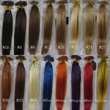 """AAA+ 18""""-32"""" Remy Human Hair Extensions Nail U-tip 100s 0.5g/s 1g/s 50g 100g UK"""