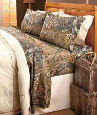 Hunting Wood Camouflage Camo Pink Brown Orange Bed Sheets T-F-Q-K